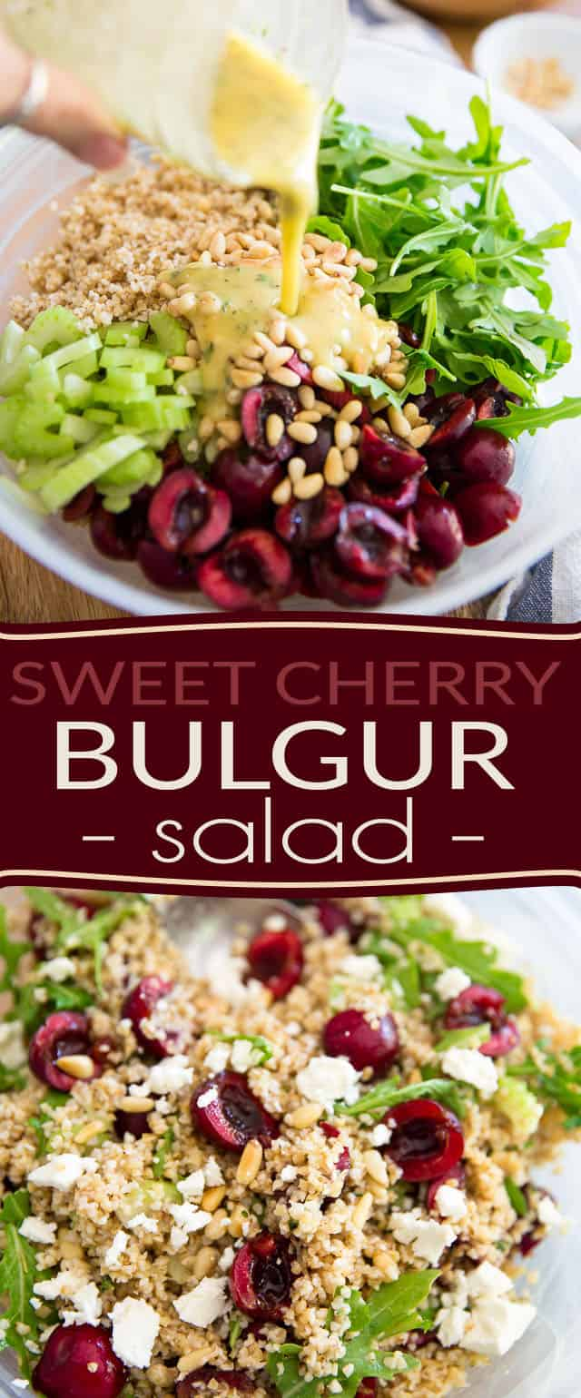 Sweet Cherry Bulgur Salad by Sonia! The Healthy Foodie | Recipe on thehealthyfoodie.com
