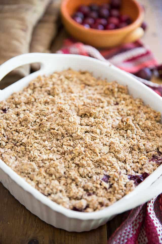 Gluten Free Sweet Cherry Crumble by Sonia! The Healthy Foodie | Recipe on thehealthyfoodie.com