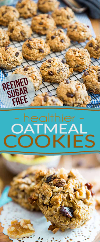 Healthier Oatmeal Cookies Pin
