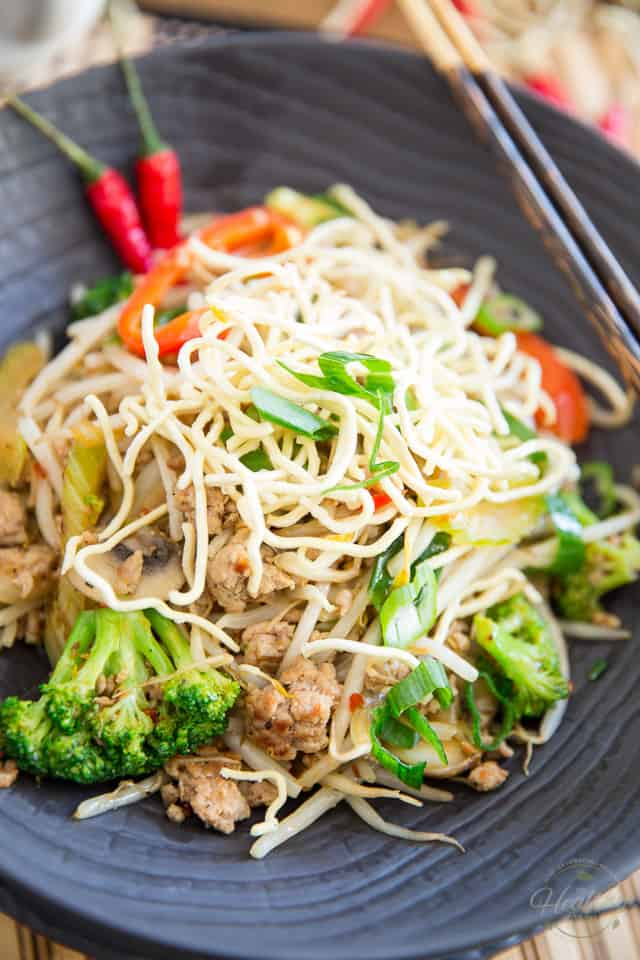 No fuss, no mess, plain and simple Chop Suey; just like my mom used to make... or almost! So good, your kids will ask that you add it to your regular rotation.