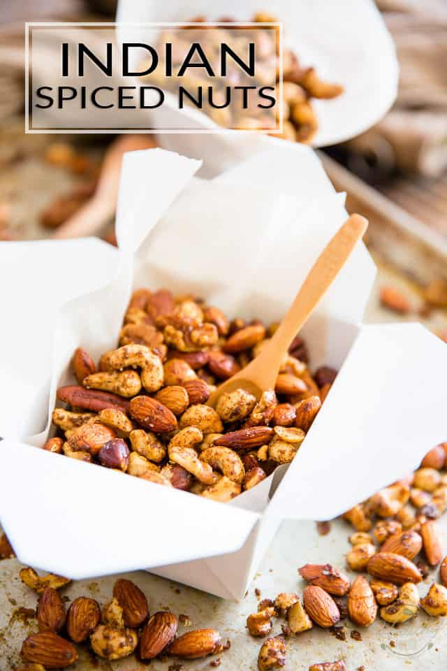 Warning: These Indian Spiced Nuts are so crazy delicious and addictive, they're kinda dangerous to have around the house. You better plan on making friends...