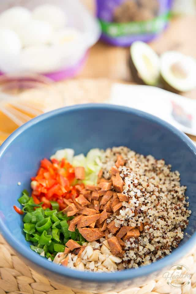 Sweet and Spicy Chicken Jerky Quinoa Salad by Sonia! The Healthy Foodie | Recipe on thehealthyfoodie.com