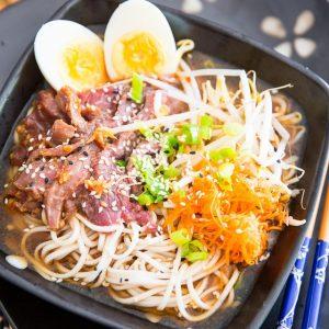 Yet Ca Mein Asian Noodle Soup