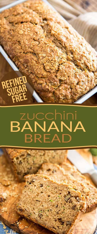Zucchini Banana Bread • The Healthy Foodie