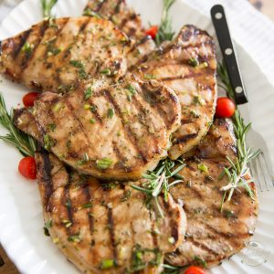 Maple Rosemary Grilled Pork Chops