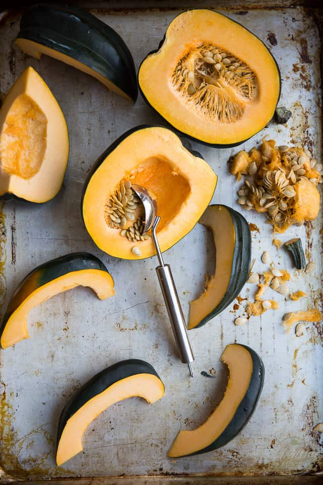 Oven Roasted Garlic Parmesan Acorn Squash by Sonia! The Healthy Foodie | Recipe on thehealthyfoodie.com