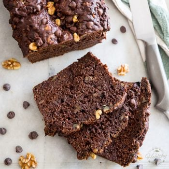 Zucchini Chocolate Bread by Sonia! The Healthy Foodie | Recipe on thehealthyfoodie.com