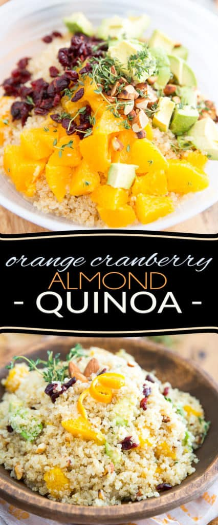 So simple yet so crazy loaded with flavor, this Orange Cranberry Almond Quinoa makes for a fantastic side dish with a unique, exotic twist!
