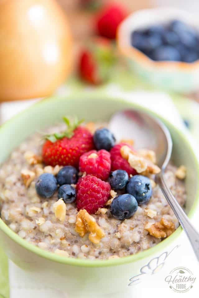 Not only is this creamy Buckwheat and Amaranth Warm Cereal super nutritious, it's also filled with all kinds of interesting flavors and fun textures! It sure is a nice change from your usual morning oatmeal! Will you dare give it a try?