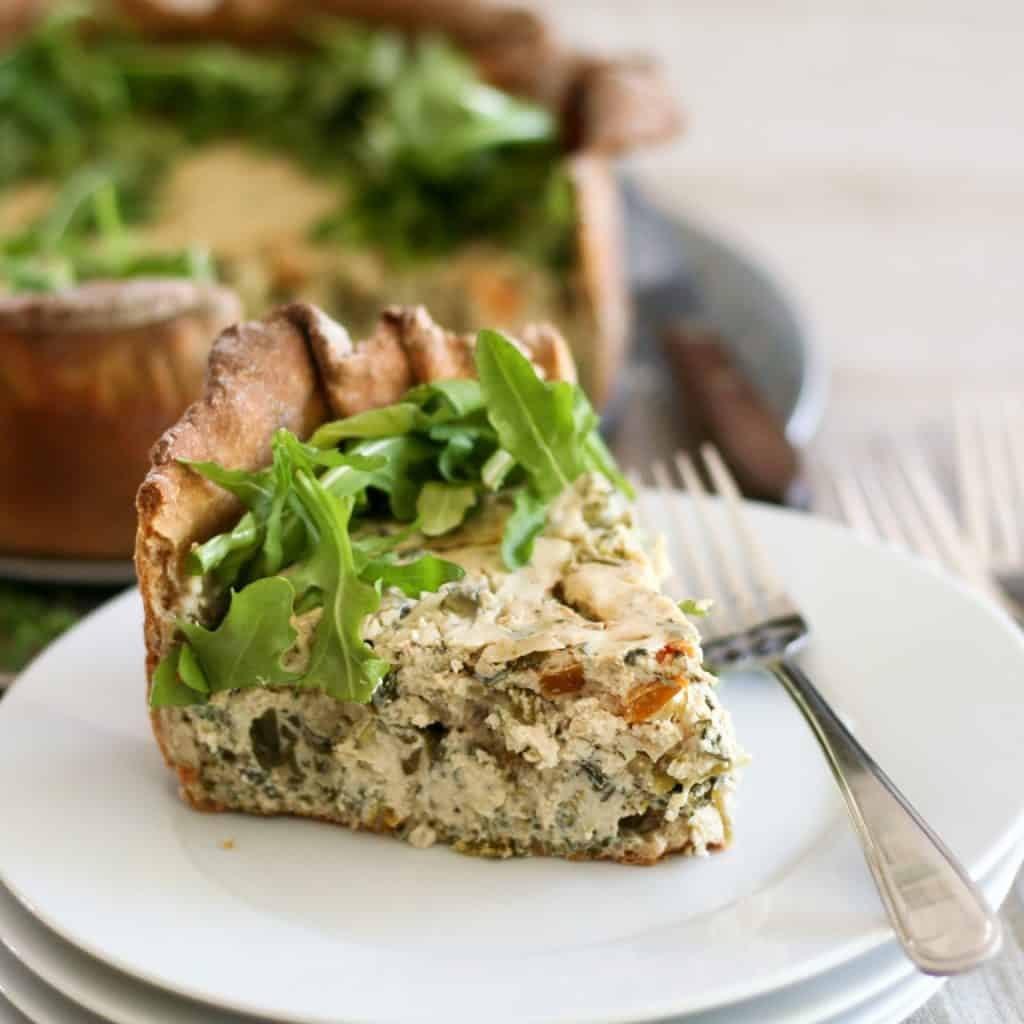 Savory Broccoli and Spinach Cheesecake | by Sonia! The Healthy Foodie