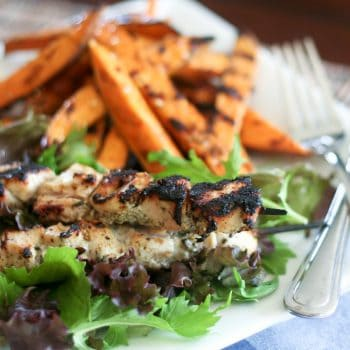 Chicken Kebabs and Grilled Sweet Potato Fries-8
