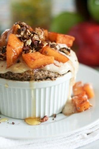 Apple Pecan Instant Buckwheat Bake • The Healthy Foodie
