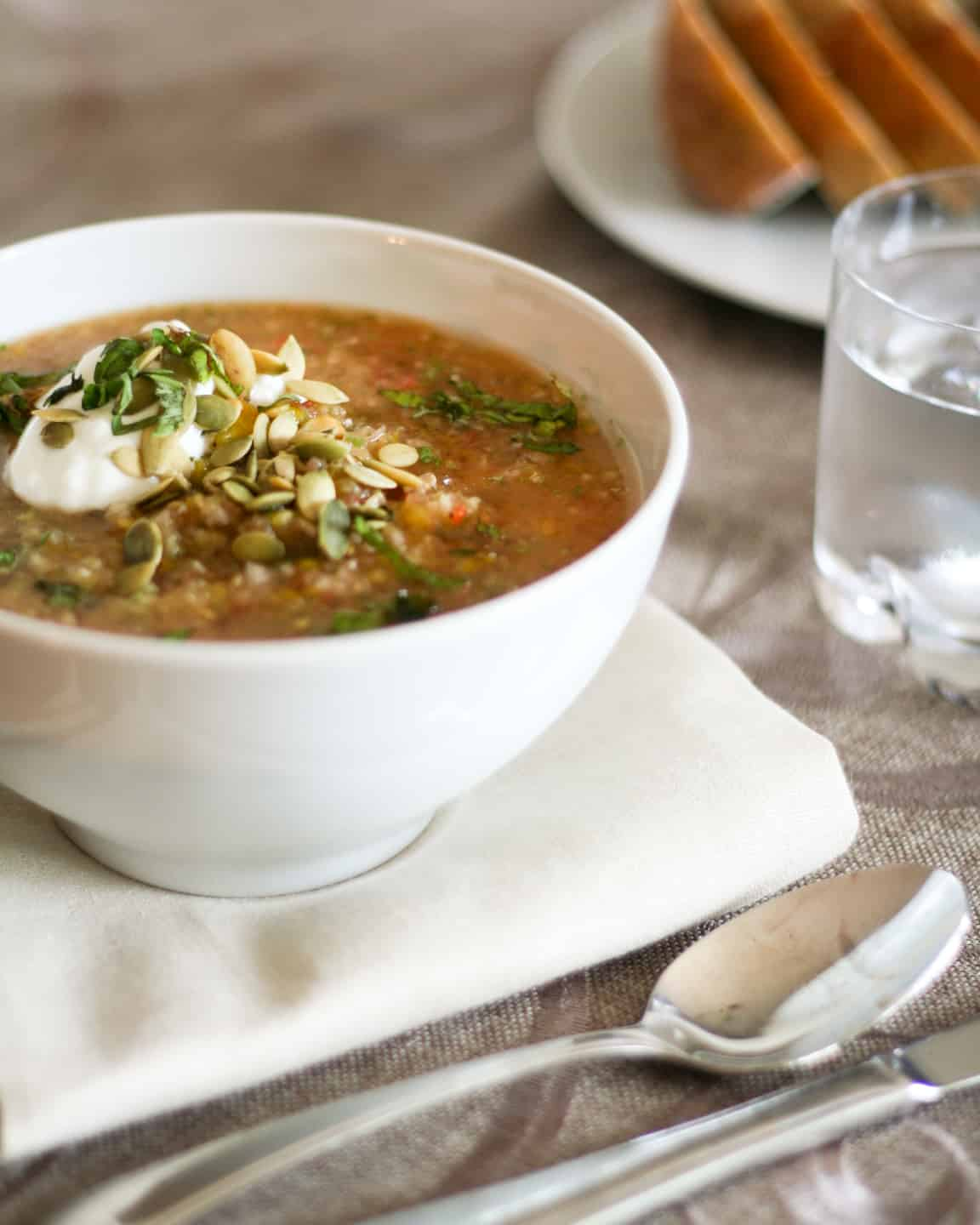 Gazpacho   by Sonia! The Healthy Foodie
