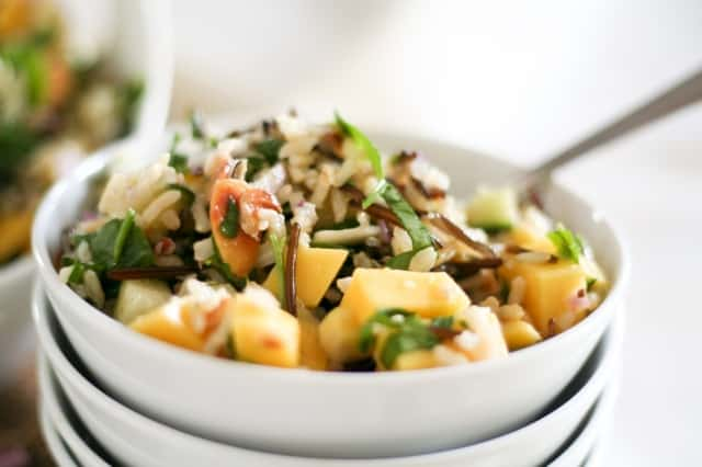 Mango Cucumber Rice Salad   By Sonia! The Healthy Foodie