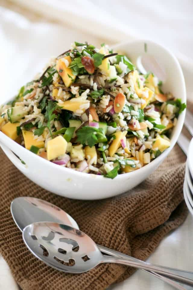Mango Cucumber Rice Salad | By Sonia! The Healthy Foodie