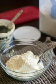Whey Protein Powder and Plain Yogurt
