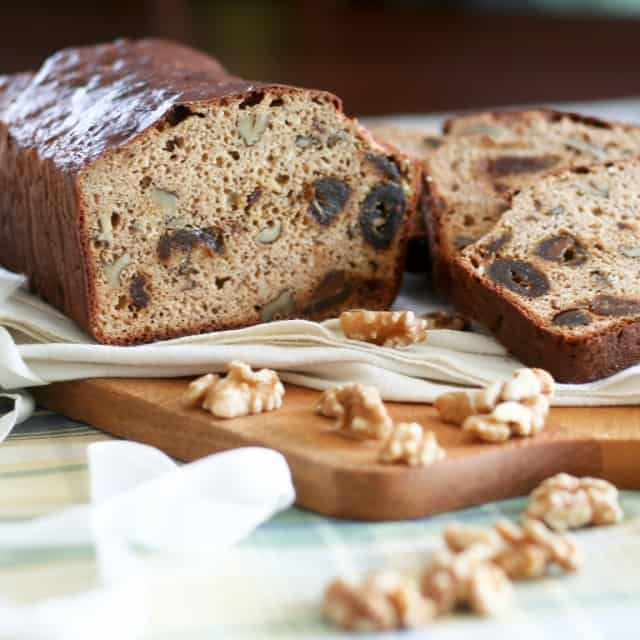 High Protein Whole Grain Date and Walnut Bread