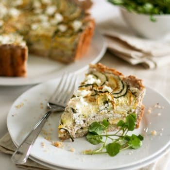 Yellow and Green Cheesy Zucchini Tart