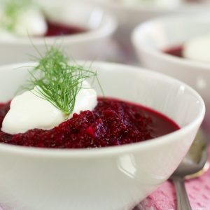 Fennel and Oven Roasted Beet Soup
