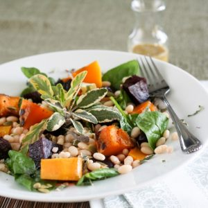 White Beans, Roasted Beets and Butternut Squash Salad