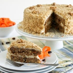 Healthy Carrot Cake and Cream Cheese Mousse