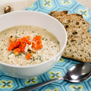 Creamy Cauliflower, Carrot and Brazil Nut Soup