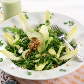 Lean Mean Green… Pea Salad (and creamy cucumber dressing)