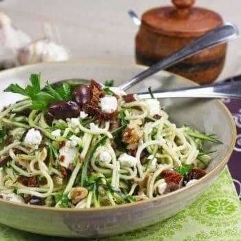 Zucchini Carpaccio, Spaghetti Style