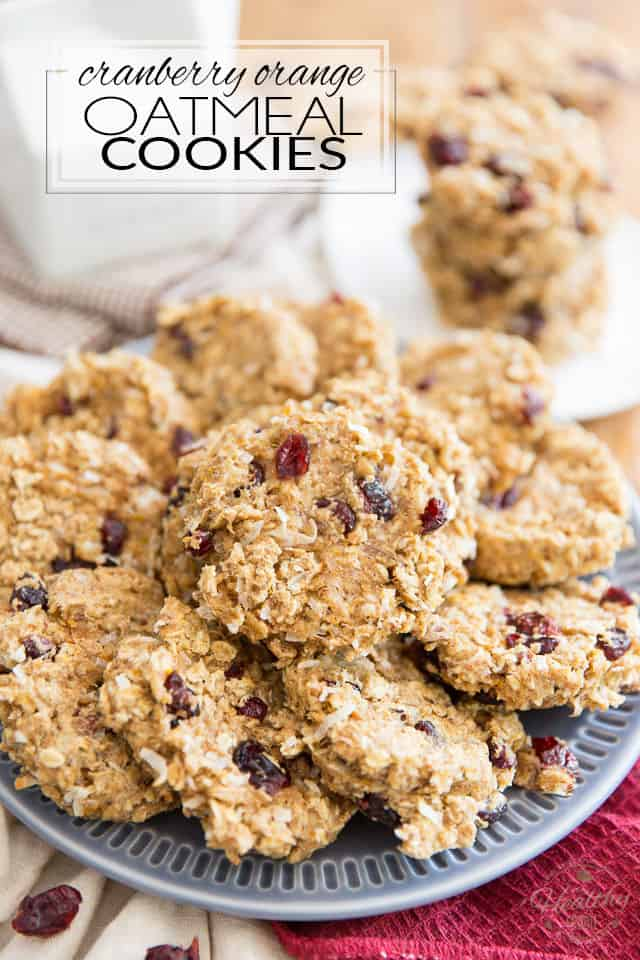 Free of refined sugar, made with nothing but wholesome ingredients, these Soft and Chewy Cranberry Orange Oatmeal Cookies are so crazy healthy and good for you, they might as well be seen as portable oatmeal. They make for a great snack for kids and adults alike!