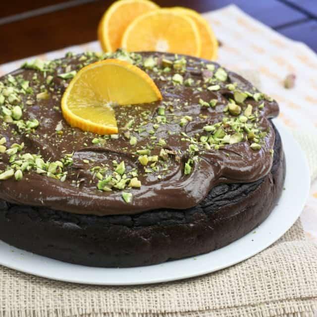 Healthy Flourless Chocolate Orange Cake • The Healthy Foodie