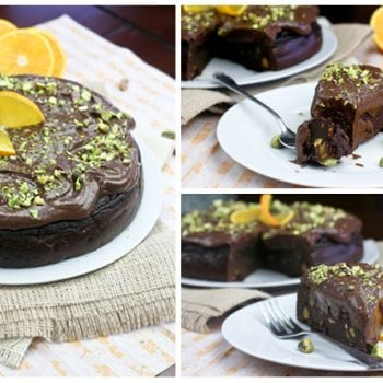 Healthy Flourless Chocolate Orange Cake