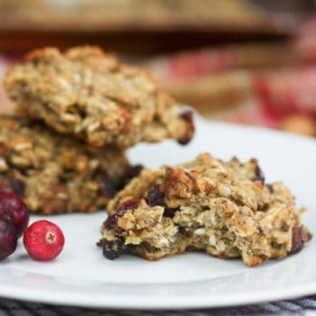 Healthy Oatmeal Cookies in Orange Cranberry