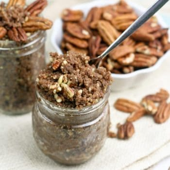 Pecan Pie in a Jar, or when pecan butter tastes as good as pie!