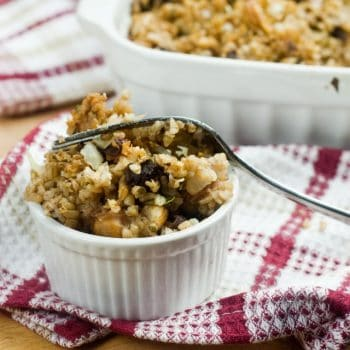 Dried Prunes and Chestnut Bulgur (unstuffed) Stuffing