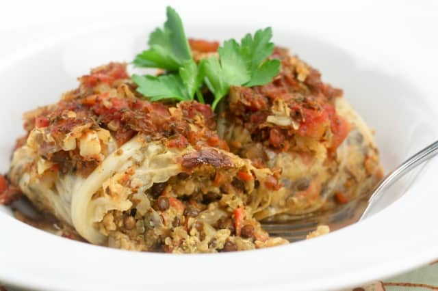 Vegetarian Cabbage Rolls • The Healthy Foodie