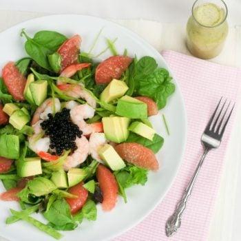 Shrimp, Avocado and Pink Grapefruit Salad