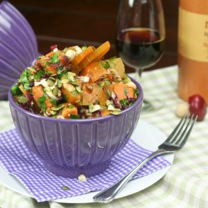 Oven Roasted Sweet Potato and Golden Beet Salad