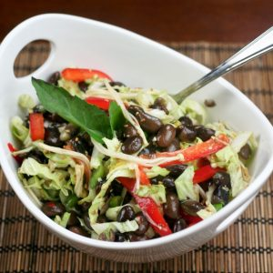 Black Soy Bean and Napa Cabbage Salad