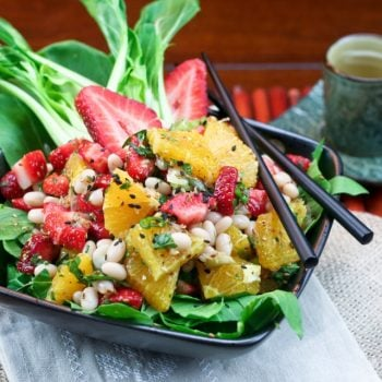 Orange, Strawberry and Navy Bean Salad