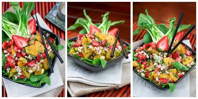 Orange Strawberry And Navy Bean Salad The Healthy Foodie
