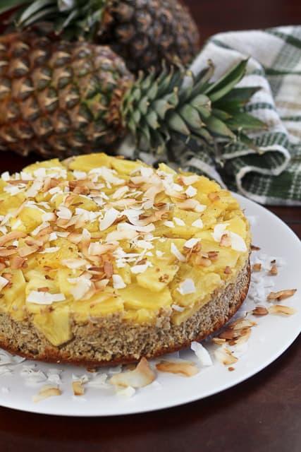 Upside Down Pineapple [Breakfast] Cake • The Healthy Foodie
