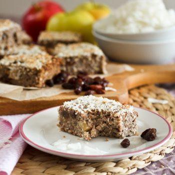 Baked Apple Cinnamon Quinoa Squares