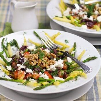 Wax Beans and Asparagus Salad