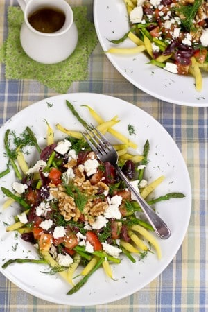 Wax Beans and Asparagus Salad • The Healthy Foodie