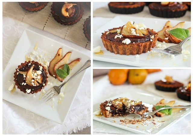 Caramelized Pears, Goat Cheese and Chocolate Tartlets ...