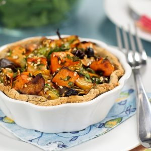 Rustic Sweet Potato, Apple and Chestnut Tartlets