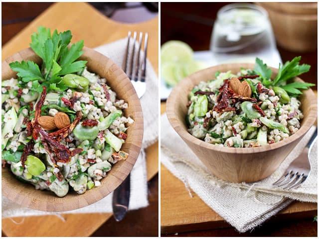 Buckwheat Fava Beans Salad