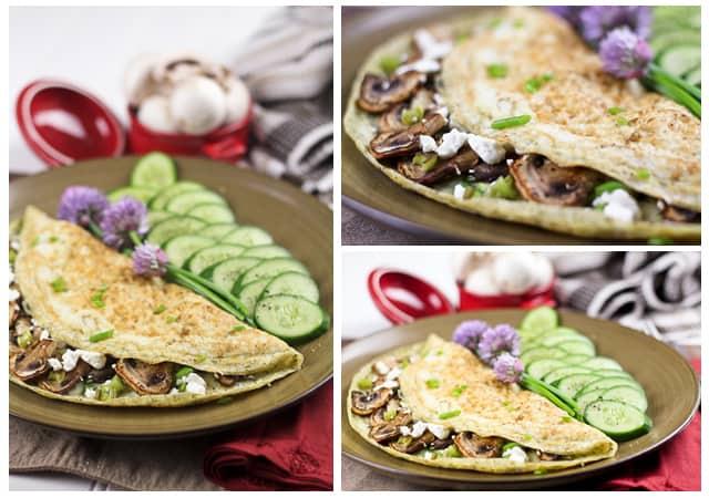 Mushroom and Goat Cheese Egg White Omelet