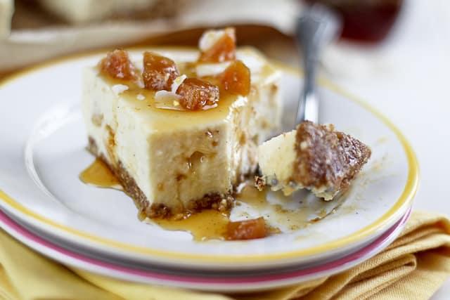 No Bake Ginger Cheesecake Bars