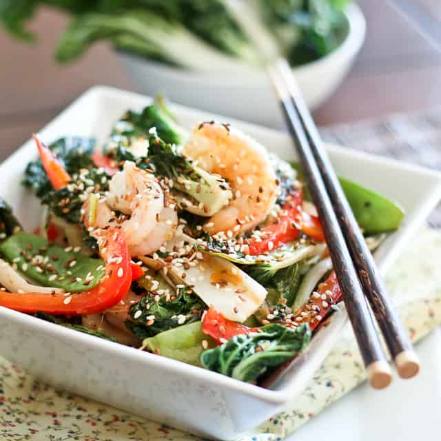Shrimp And Baby Bok Choy Stirfry The Healthy Foodie